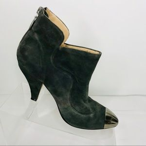 Diesel Boots Ankle Booties Womens 6 Gray suede